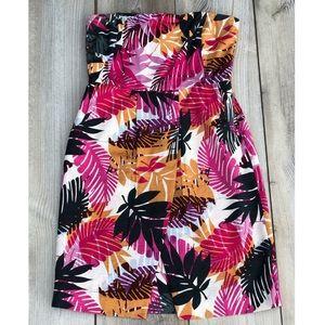 Banana Republic Strapless Tropical Dress 🌴🌸